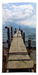 Lake Atitlan Dock Bath Towel