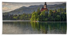 Hand Towel featuring the photograph Lake Bled Morning #2 - Slovenia by Stuart Litoff