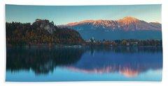 Lake Bled Panorama Bath Towel