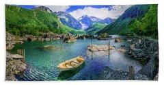 Hand Towel featuring the photograph Lake Bondhusvatnet by Dmytro Korol
