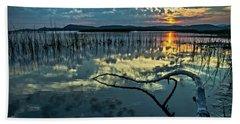 Lake Champlain Vermont Sunrise - 1 Landscape Bath Towel by James Aiken