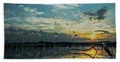 Lake Champlain Vermont Sunrise - 2 Landscape Bath Towel by James Aiken
