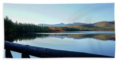 Bath Towel featuring the photograph Lake Chocorua Autumn by Nancy De Flon
