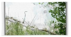 Lake Crane Bath Towel