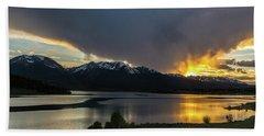 Lake Dillon And Gore Range Sunset Bath Towel