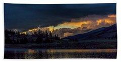Lake Dillon Stormy Sunset Bath Towel by Stephen Johnson