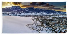 Bath Towel featuring the photograph Lake Dillon Sunset by Sebastian Musial