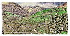 Lake District Mountains Hand Towel