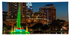 Lake Eola Fountain Hand Towel