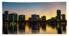 Lake Eola Sunset Hand Towel