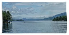 Lake George Kayaker Hand Towel