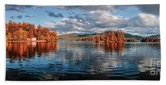 Lake George Panorama  Bath Towel