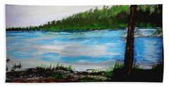 Lake In Virginia The Painting Bath Towel