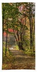 Lake Loop In Fall Hand Towel