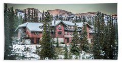 Lake Louise Lodge Hand Towel by Bill Howard
