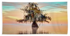 Lake Maurepas In Pastels Bath Towel