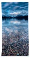 Lake Mcdonald Calm, Glacier National Park Bath Towel