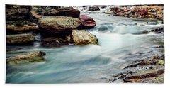 Lake Mcdonald Falls, Glacier National Park, Montana Hand Towel