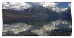 Lake Mcdonald Reflection Glacier National Park Bath Towel