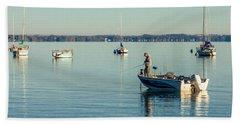 Lake Mendota Fishing Bath Towel