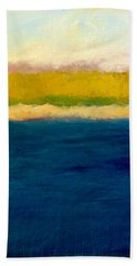 Lake Michigan Beach Abstracted Bath Towel