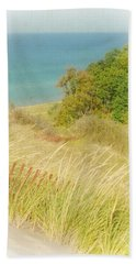 Bath Towel featuring the photograph Lake Michigan Dune View by Michelle Calkins