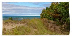 Lake Michigan Shore Bath Towel