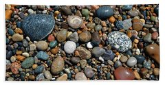 Bath Towel featuring the photograph Lake Michigan Stone Collection by Michelle Calkins