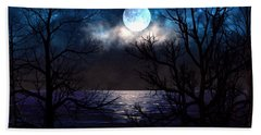 Lake Midnight Bath Towel