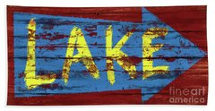 Lake Sign Bath Towel