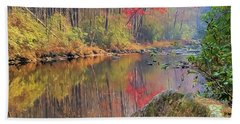 Bath Towel featuring the painting Chattooga Paradise by Steven Richardson