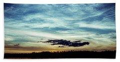 Lake Sunset Hand Towel by Scott Meyer