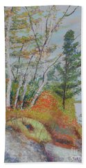 Lake Susie In Fall Bath Towel by Rae  Smith  PAC