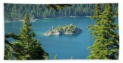 Lake Tahoe Bath Towel by RC Pics