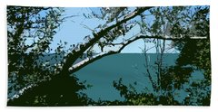 Lake Through The Trees Bath Towel