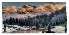 Lake Tipsoo, Mt Rainier Hand Towel by Greg Sigrist