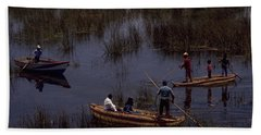 Lake Titicaca Reed Boats Bath Towel
