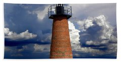 Lake Toho Lighthouse 002  Bath Towel by Chris Mercer