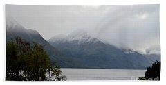 Lake Wanaka On A Rainy Spring Day Bath Towel