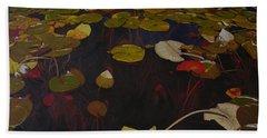 Bath Towel featuring the painting Lake Washington Lilypad 7 by Thu Nguyen