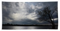 Lake Wilcox Thunder Clouds-1519 Hand Towel