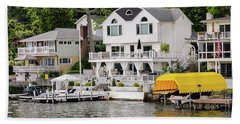 Hand Towel featuring the photograph Lakefront Living Hopatcong by Maureen E Ritter