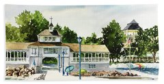Lakeside Dock And Pavilion Hand Towel