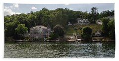 Hand Towel featuring the photograph Lakeside Living Hopatcong by Maureen E Ritter