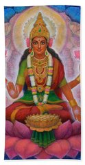 Hand Towel featuring the painting Lakshmi Blessing by Sue Halstenberg