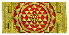 Hand Towel featuring the photograph Lakshmi Kubera Yantra by Ragunath Venkatraman