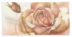 Hand Towel featuring the painting Lalique Rose by Sandra Phryce-Jones