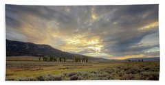 Lamar Valley Sunset Hand Towel