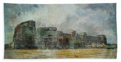 Bath Towel featuring the photograph Lambeau Field Watercolor by Joel Witmeyer