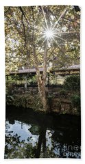 Hand Towel featuring the photograph Lambertvill Station Inn by Judy Wolinsky